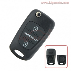 Flip remote key shell for Hyundai Accent 3 button