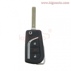 HYQ12BFB Flip remote key shell 3 button VA2 TOY48 for Toyota Corolla Camry