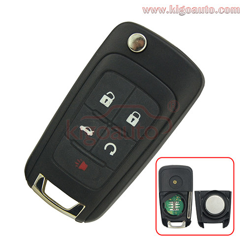 P/N 23335584 Car Remote Key and Keyless Smart key 4 button with panic 434 Mhz for Chevrolet Equinox Camaro V2T01060512