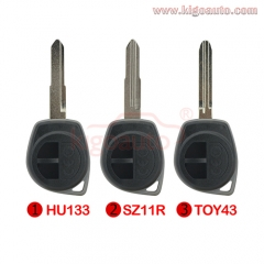 Remote key shell 2 button for Suzuki Grand Vitara Swift Ignis