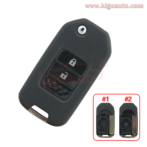 Flip remote key shell 2 button for Honda Civic 2015+ 35118-TV0-E20