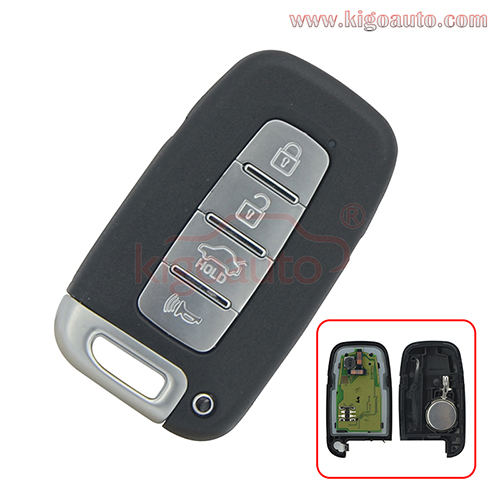FCC SY5HMFNA04 Smart key 4 button 434Mhz ID46-PCF7952 chip for Kia Sportage Hyundai Sonata Elantra Genesis 2009-2014  PN 95400-3M100