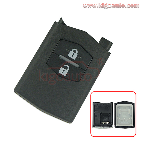 Remote Key Part Shell 2 Button For Mazda 3 5 6 M6 RX8 MX5