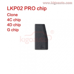 LKP02 Pro transponder ceramic chip for Tango VVDI KD-X2 4C 4D G clone Chip