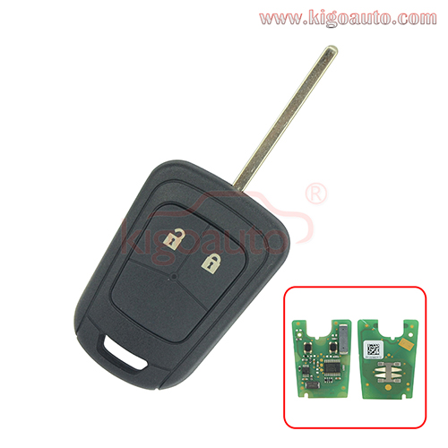 PN 13579236 Remote key 2 button 433Mhz ID46 chip for Chevrolet Aveo Holden barina