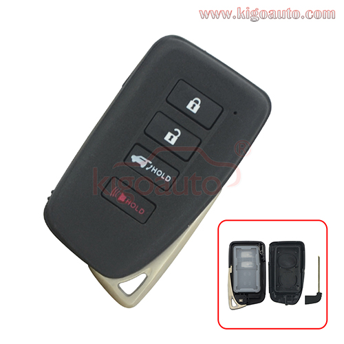 FCC HYQ14FBB Smart key case 3 button with panic for Lexus LX570 RX350 RX450 2016-2020