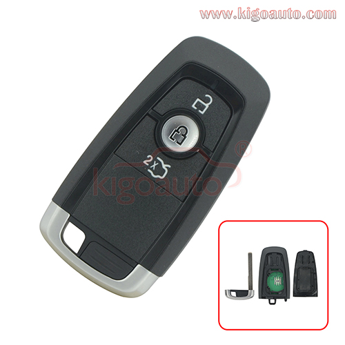 PN  HS7T-15K601-DC A2C93142101 Smart key 3 button 433Mhz HITAG PRO ID49 chip for Ford Mondeo 2017 Edge Explorer 2018