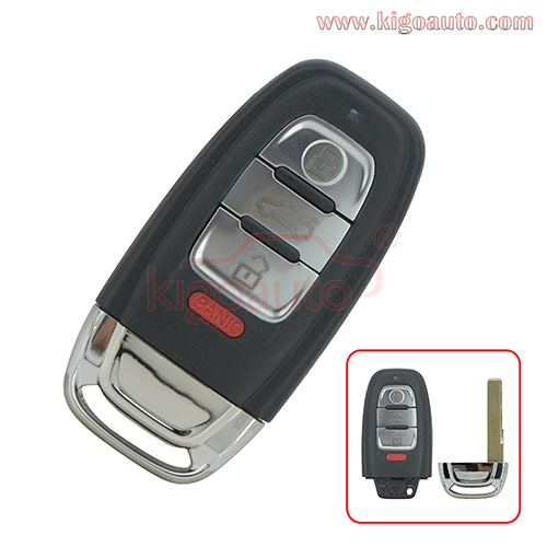 PN 8T0 959 754C smart key 3 button with panic 315Mhz for Audi Q5 A4 A5 A6 A7 A8 2009-2017