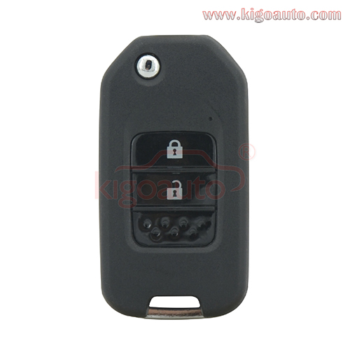 TWB1G721 Flip remote key 2 button 434Mhz FSK ID47-Hitag 3-PCF7961 for Honda Civic HR-V CR-V Accord Jade Crider Odyssey 2015-2018