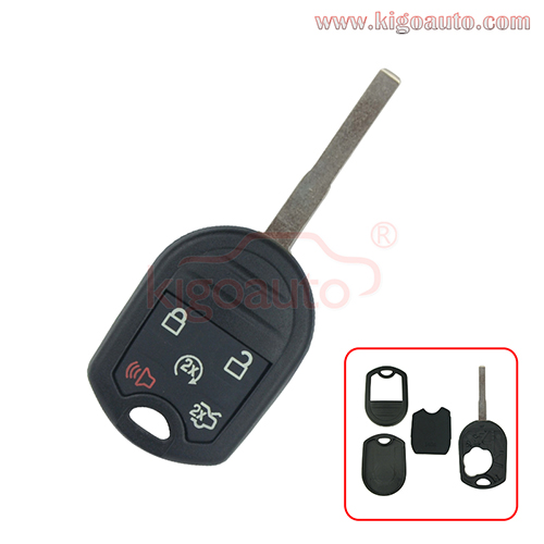 Remote head key shell 5 button HU101 high security blade for Ford Escape Fiesta Transit 2016 2017