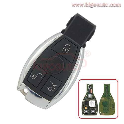 Smart key 3 button 434mhz for Mercedes Benz FBS3 KeylessGo PCB Keyless Entry W204/207/212/164/166/221