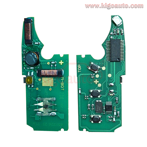 Keyless key circuit board 315Mhz and 434Mhz PCF7942 chip for Porsche VW Touareg