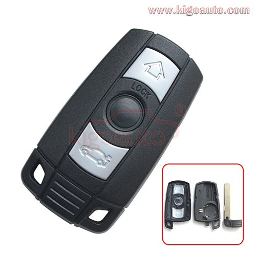 Smart key case 3 button for BMW 1,3,5 SERIES E36 E87 E90 E91 X5 X6 Z4 2006-2013