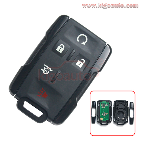 FCC M3N-32337100 remote fob key 5 button 315mhz for Chevrolet PN 13580081