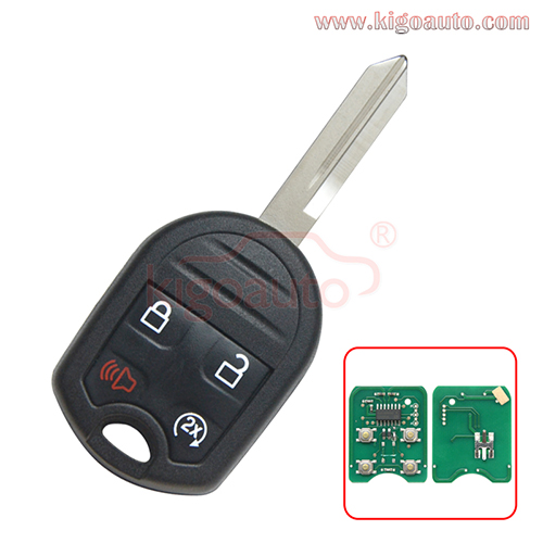 FCC CWTWB1U793 Remote Head Key Remote Start 4 Button 315Mhz 434Mhz with 4D63 80bit chip for 2009-2017 Ford Explorer Expedition F-Series PN 164-R8067