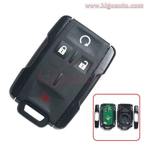 FCC M3N-32337100 remote fob key 4 button 315MHZ for Chevrolet Colorado Silverado 1500 2500 3500 PN 13577770