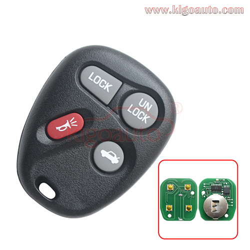 25678792 AB01502T remote fob 4 button 315Mhz ASK for GM Buick Chevrolet Oldsmobile Pontiac 1996-2000