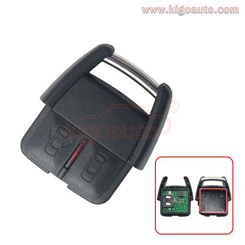 93176615 Remote key fob 2 button 433Mhz ASK for Opel VECTRA ASTRA ZAFIRA CORSA 2000 2001 2002 2003 2004