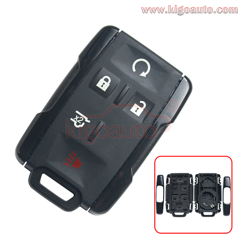 13577762 remote fob key case shell 5 button for  Chevrolet Colorado Silverado GMC Canyon Sierra 2014 2015 2016 2017 FCC M3N-32337100