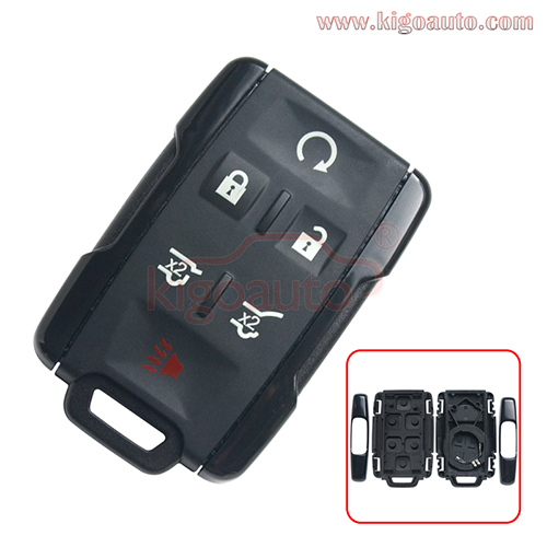 FCC M3N-32337100 remote fob key case 6 button for Chevrolet Tahoe Suburban 2015-2018 PN 13577766
