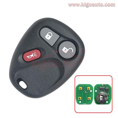 FCC KOBUT1BT KOBLEAR1XT remote fob 3 button 315Mhz ASK for GM Chevrolet GMC 1998-2002