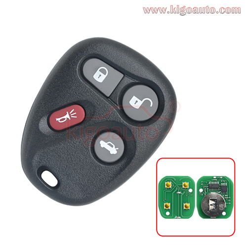 25665574 25665575 FCC KOBUT1BT KOBLEAR1XT remote fob 4 button 315Mhz ASK for GM Buick Cadillac Chevrolet GMC 2001-2007