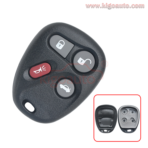 Remote fob case 4 button for  Buick Cadillac Chevrolet Pontiac GMC