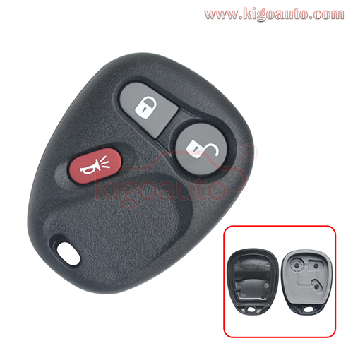 Remote fob case 3 button for  Buick Cadillac Chevrolet Pontiac GMC