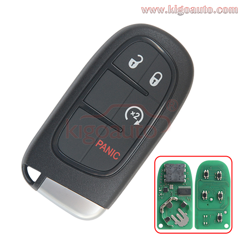 FCC GQ4-54T Smart key 4 button 434Mhz 46 chip PCF7953 for 2013-2018 Dodge Ram