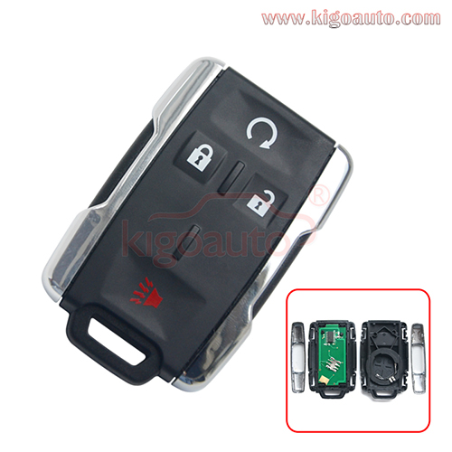 FCC M3N-32337100 remote fob key 4 button 315mhz for Chevrolet Tahoe SILVERADO 1500 2500 3500HD  PN 13577770