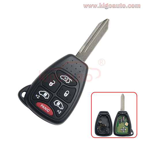 FCC OHT692427AA Remote head key 6 button 315Mhz for Jeep Commander 2007 PN 68003389AA