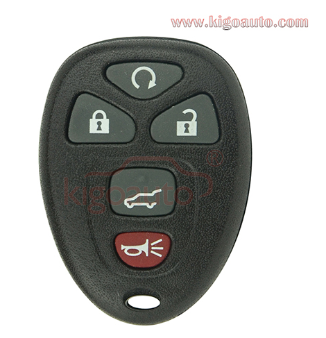 (No battery holder) FCC KOBGT04A Remote fob case 5 button for GM Pontiac G5 G6 Solstice Saturn Aura Sky 2005-2012