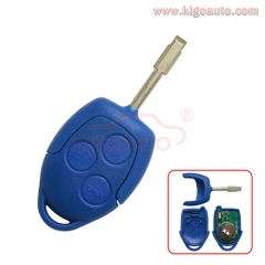 Aftermarket Blue remote key 3 button 433mhz 4D63 chip with FO21 blade for Ford Transit 2006-2014